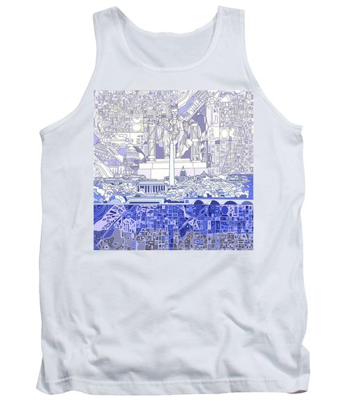 Washington Dc Skyline Abstract 3 Tank Top