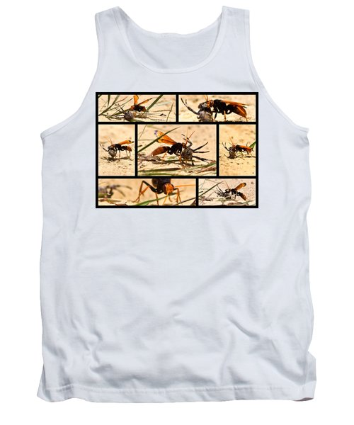 Tank Top featuring the photograph Wasp And His Kill by Miroslava Jurcik