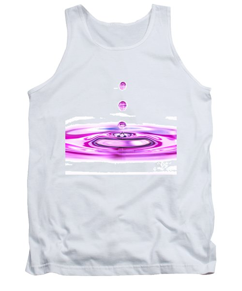 Water Droplets White And Purple Tank Top