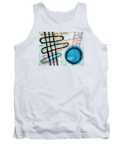 Tank Top featuring the painting Water Frequency by Maria Huntley