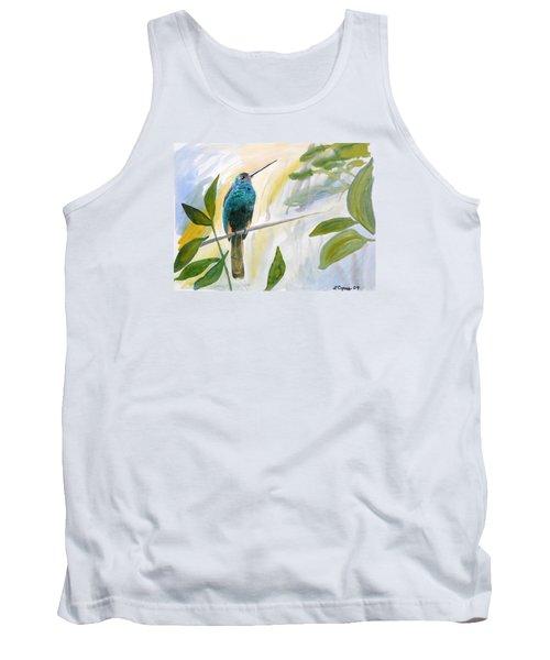 Watercolor - Jacamar In The Rainforest Tank Top