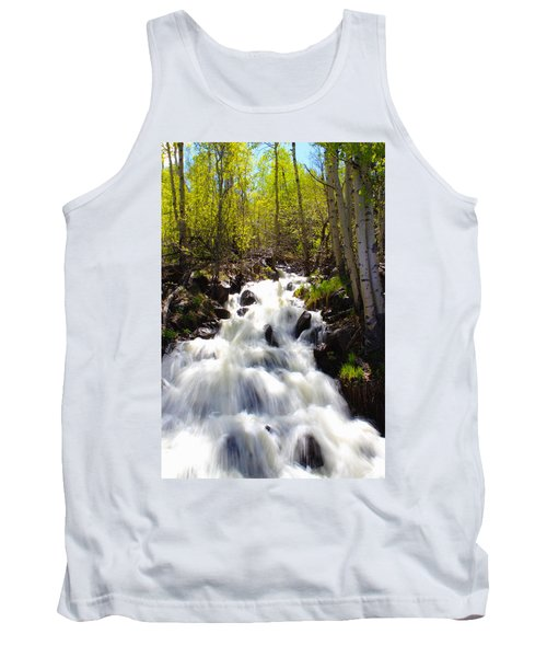 Waterfall Through The Aspens Tank Top
