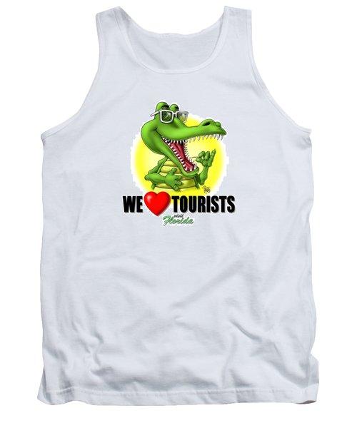 We Love Tourists Gator Tank Top