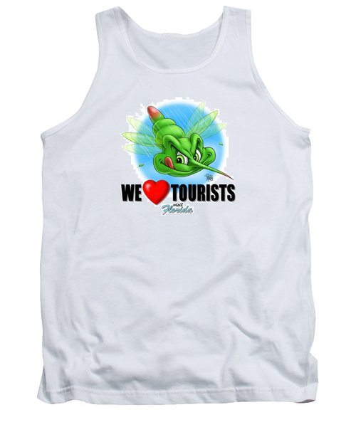 Tank Top featuring the digital art We Love Tourists Mosquito by Scott Ross