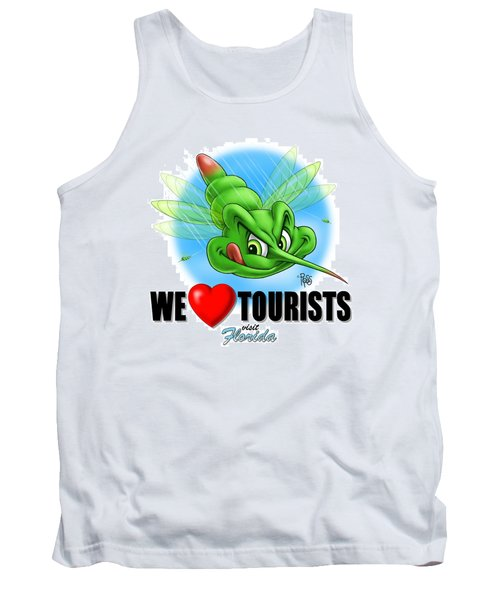 We Love Tourists Mosquito Tank Top