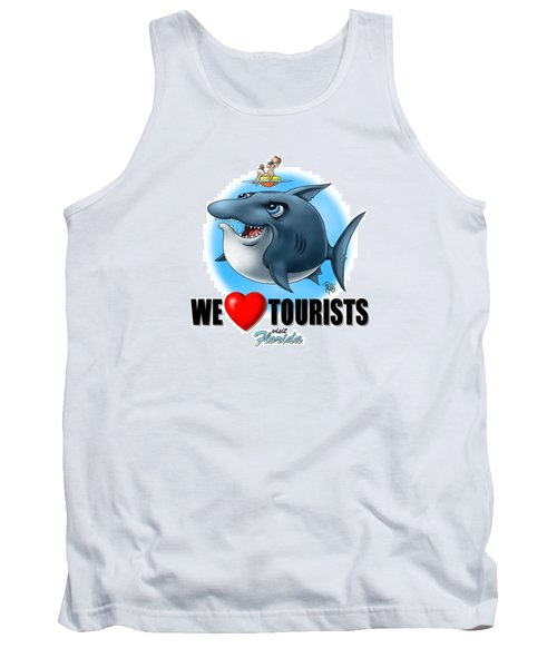 We Love Tourists Shark Tank Top