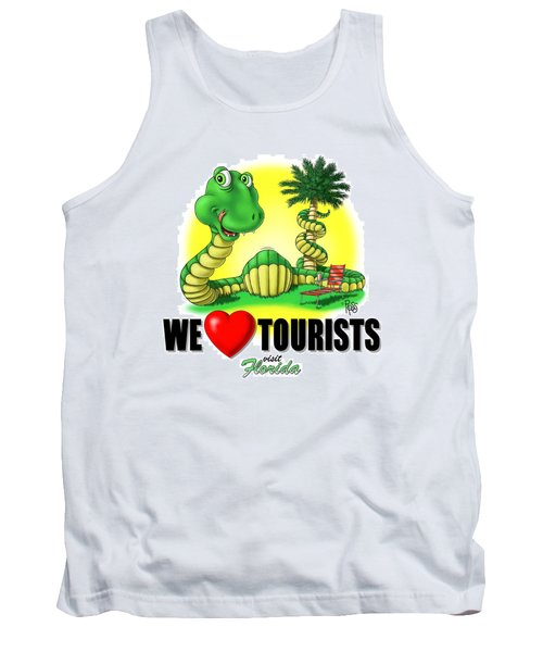 We Love Tourists Snake Tank Top
