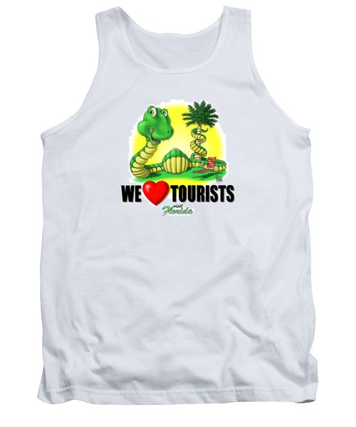 We Love Tourists Snake Tank Top