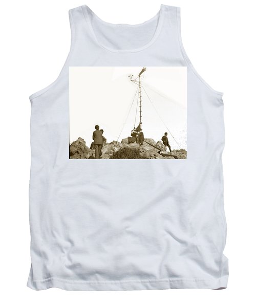 Tank Top featuring the photograph Weather Station Mount Tamalpais Marin County California Circa 1902 by California Views Mr Pat Hathaway Archives