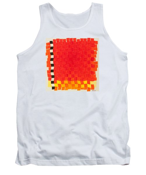 Weave #2 Sunset Weave Tank Top by Thomas Gronowski