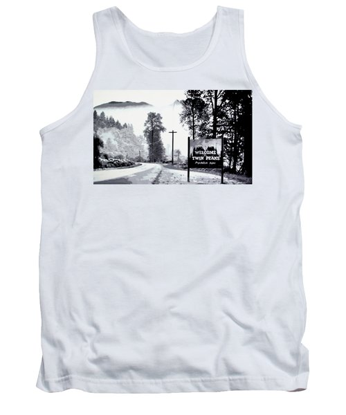 Tank Top featuring the painting Welcome To Twin Peaks by Luis Ludzska
