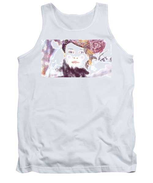 Tank Top featuring the digital art Wendy Waits by Kim Prowse