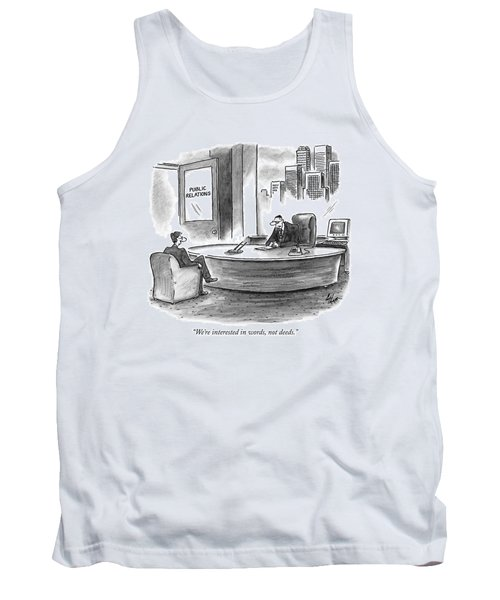 We're Interested In Words Tank Top