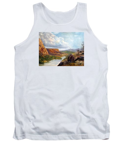 Western River Canyon Tank Top by Lee Piper