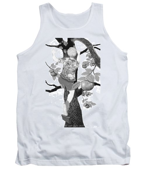 Tank Top featuring the digital art Where The Best Apples Are by Carol Jacobs