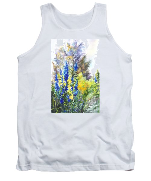 Where The Delphinium Blooms Tank Top by Carol Wisniewski
