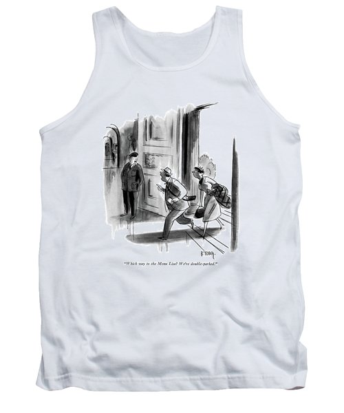 Which Way To The Mona Lisa? We're Double-parked Tank Top by Barney Tobey