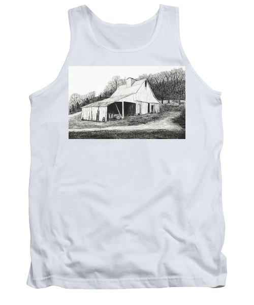 White Barn On Bluff Road Tank Top by Garry McMichael