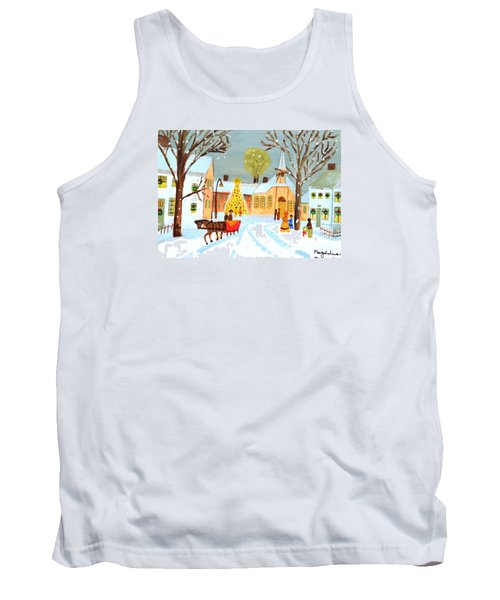 Tank Top featuring the painting White Christmas by Magdalena Frohnsdorff