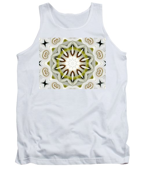 Tank Top featuring the photograph White Daisies Kaleidoscope by Rose Santuci-Sofranko
