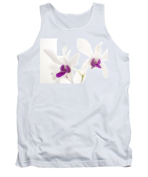 White Orchids Tank Top by Bradley R Youngberg