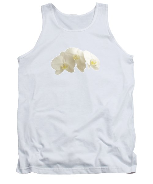 White Orchids On White Tank Top