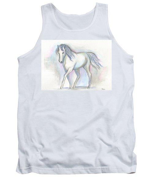 White Pony Tank Top