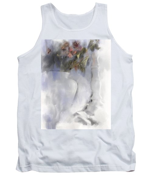 White Still Life Vase And Candlestick Tank Top