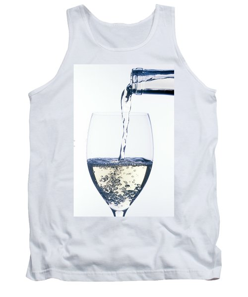 White Wine Pouring Tank Top