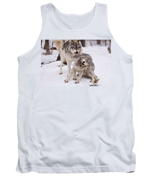Tank Top featuring the photograph Who's The Boss by Wolves Only