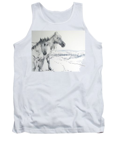 Wild Horses Drawing Tank Top