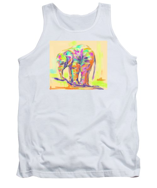 Wildlife Baby Elephant Tank Top