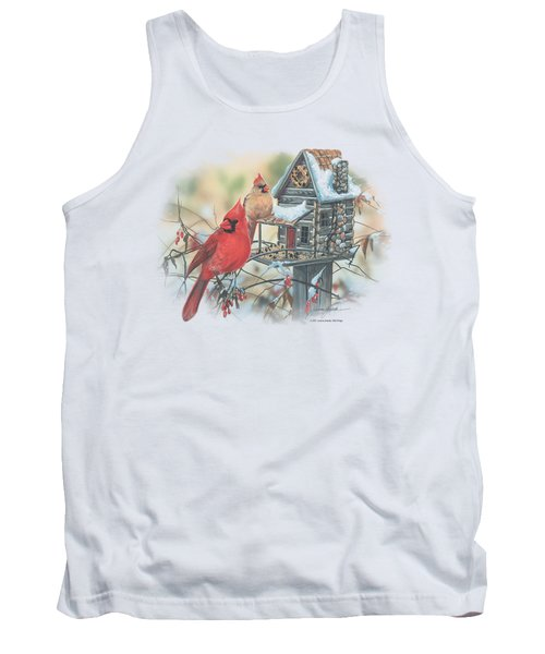 Wildlife - Cardinals Rustic Retreat Tank Top