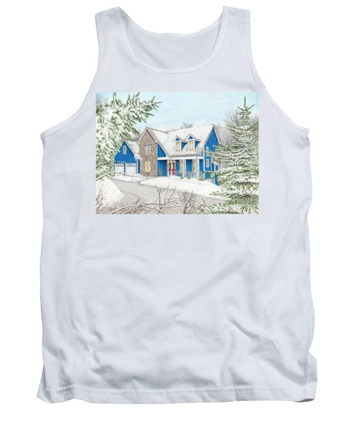 Tank Top featuring the painting Wiley House by Albert Puskaric