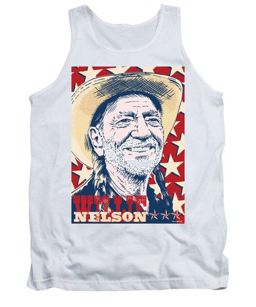 Willie Nelson Pop Art Tank Top by Jim Zahniser