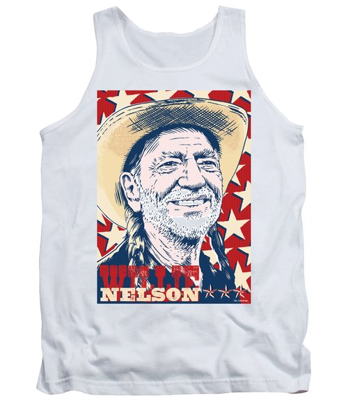 Willie Nelson Pop Art Tank Top