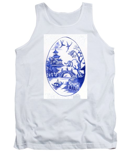 Willow Pattern Egg II Tank Top
