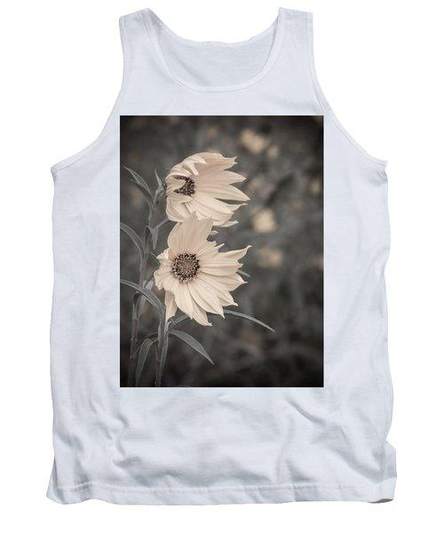 Windblown Wild Sunflowers Tank Top by Patti Deters
