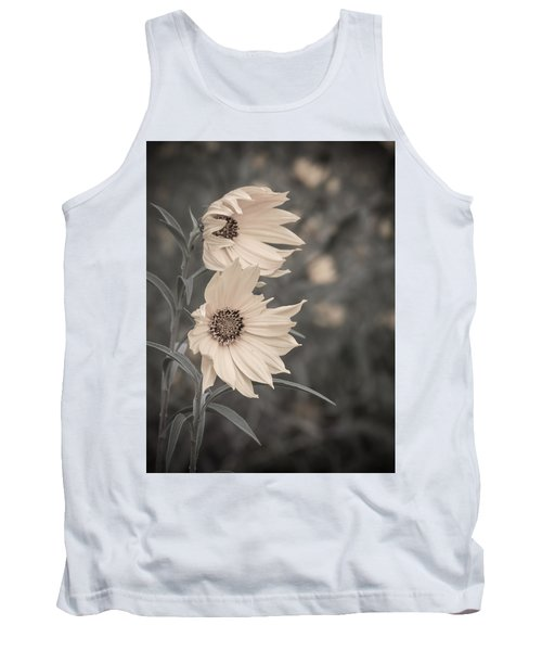Windblown Wild Sunflowers Tank Top