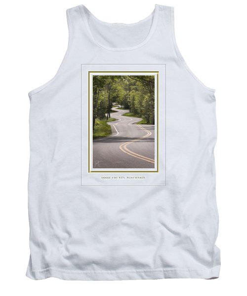 Winding Road Door County Tank Top by Barbara Smith