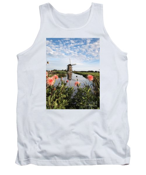 Windmill Landscape In Holland Tank Top