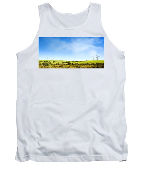 Tank Top featuring the photograph Windmill by Yew Kwang