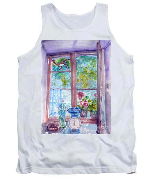 Tank Top featuring the painting Window by Jasna Dragun