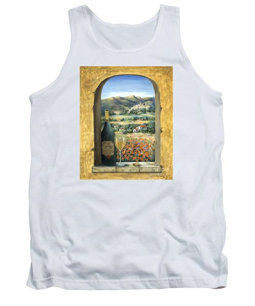 Wine And Poppies Tank Top