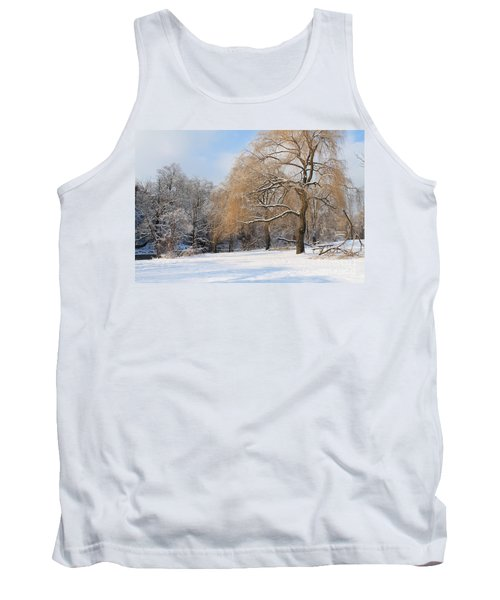 Tank Top featuring the photograph Winter Along The River by Nina Silver