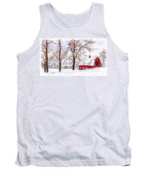 Winter Arrives Watercolor Tank Top