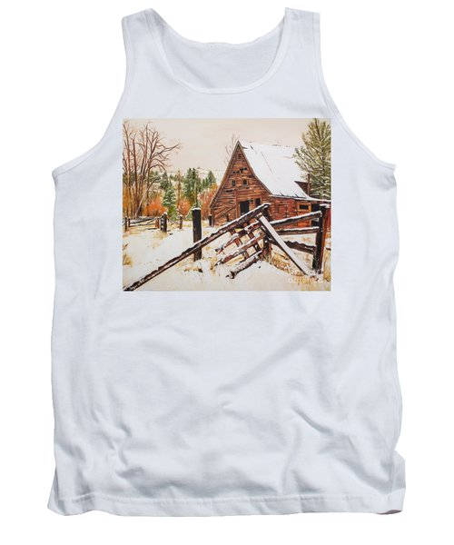 Winter - Barn - Snow In Nevada Tank Top