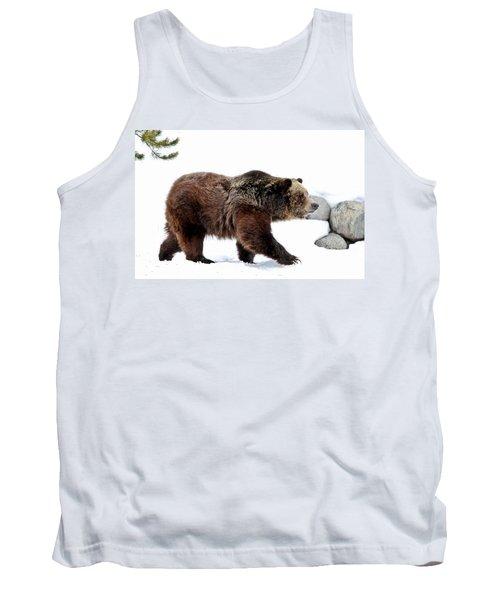 Winter Bear Walk Tank Top by Athena Mckinzie