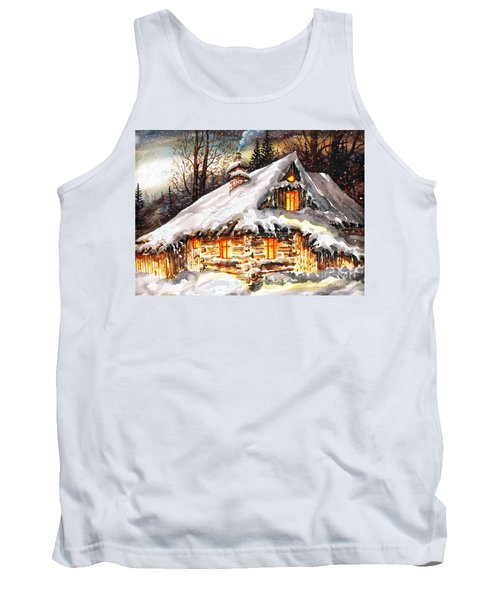 Winter Cottage Tank Top