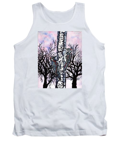 Tank Top featuring the painting Winter In The Country by Connie Valasco